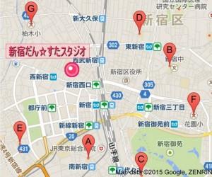 新宿駅 周辺の小学校の地図