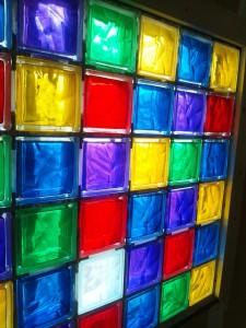 新宿  レンタルスタジオ のガラスブロックです