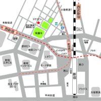 新宿西口 地図 MAP 行き方 アクセス