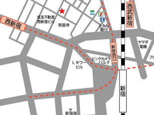 新宿 のレンタルスタジオ を借りるなら ココ 新宿駅まで徒歩8分のイメージ